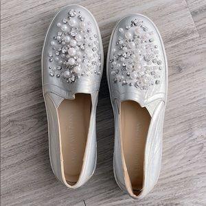 Stuart Weitzman decor pearl embellished sneakers